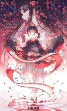 Tenjin and Tsuyu from Noragami (manga/anime) Shinki Noragami, Anime Noragami, Manga Anime, Yato And Hiyori, Manga Art, Fanart, Tokyo Ghoul, Yatori, Hokusai