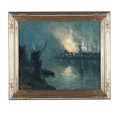 Aaron Harry Gorson (PA, 1872-1933), Steel Mill at Night Sold $12,000