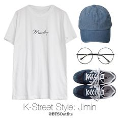 """K-Street Style: Jimin"" by btsoutfits ❤ liked on Polyvore featuring Goroke, New Balance and Retrò"