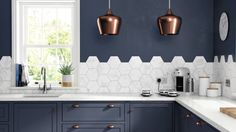 Hexagons and marble are two big trends in interiors at the moment. The Kitchen Collection HD Laurel Hex Multi Porcelain Tile by British Ceramic Tile is the perfect tile for introducing both these trends into your kitchen.