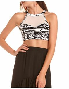 I love this mesh crop top! #aztec Get 10% off your purchase at http://www.studentrate.com/itp/get-itp-student-deals/Charlotte-Russe-10percent-Student-Discount--/0