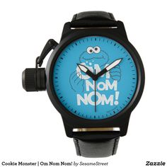 Cookie Monster | Om Nom Nom! Wrist Watch Vintage Leather, Vintage Men, Presents For Kids, Out Of Style, Classic Looks, Cool Gifts, Nom Nom, Going Out, Cookie Monster
