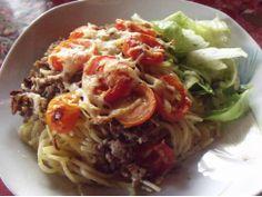 Spaghetti-Tomaten-Auflauf