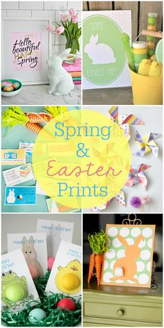 A roundup of FREE Spring and Easter Printables!! Check it out on { lilluna.com }