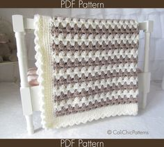 Crochet Baby Blanket PATTERN 58  Teddy Bear  by CaliChicPatterns