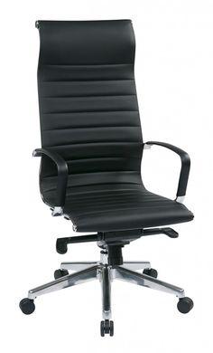 OSP Furniture® High Back Black Bonded Leather Chair. This elegant
