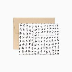 Abstract Dots Happy Birthday Greeting Card by EvermorePaperCo on Etsy