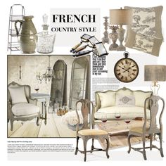 French Country Style by janephoto on Polyvore featuring interior, interiors, interior design, home, home decor, interior decorating, Off-White, Bormioli Rocco, Neiman Marcus and Article N˚