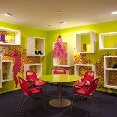 Brooklyn design team Sergio Mannino Studio have completed the interior of a showroom for footwear brand Kensiegirl in New York