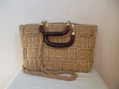 Vintage woven bag Italian sisal tote bag by VintageInspiraiton, $49.00