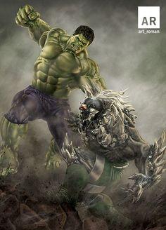 Hulk vs Doomsday 11x17