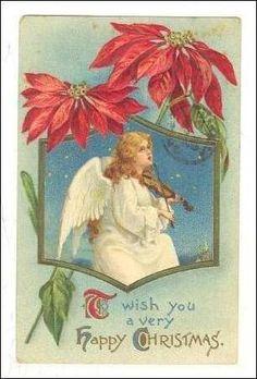 Angel plays Violin on cloud, Christmas, PU-1910 Item# SCVIEW401928 (207036677 0049712919)