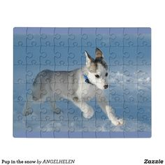 Pup in the snow jigsaw puzzle - Xmas ChristmasEve Christmas Eve Christmas merry xmas family kids gifts holidays Santa Animal Skulls, Family Kids, Merry Xmas, Diy Face Mask, Kids Gifts, Pink And Green, Jigsaw Puzzles, Pup, Unique Gifts