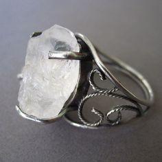 Ring | Jennifer Blackwell.  Sterling silver and raw quartz.