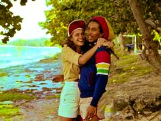 BOB MARLEY with girlfriend CINDY BREAKSPEAR, mother of Damian Marley...