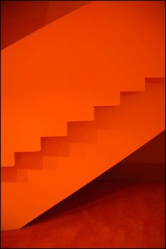 Orange staircase, interior The Lowry, Salford Quays, Manchester, by © chas.eastwood, via Flickr.com
