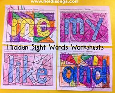 worksheets free (Freebie alert!) New: coloring Sight Worksheets! sight Hidden Brand Word word hidden Coloring