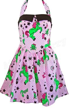 Hell Bunny Zombie Unicorn Mini Dress- i've been wanting this dress for forever! =[