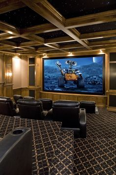 Idea for theater room...ceiling and more levels for seating