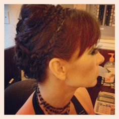 Queen Ravenna from Snow White and the Huntsman inspired updo