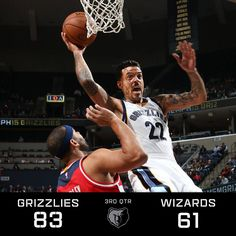 Grizzlies lead WAS after 3Q, 83-61. Matt Barnes w/ 15pts (3-3 from three). Grizz shooting 80% from long range.  12/14/2015