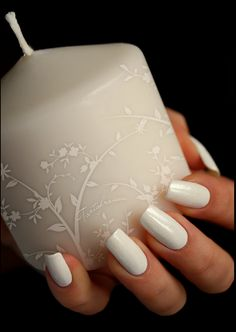 pure white nails