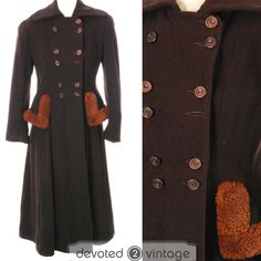 eBay item: 1940s Preview double breasted CC41 Utility wool coat