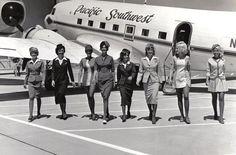 Pacific Southwest vintage flight crew