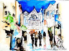 Ireland Love Romance Dublin Cityscape Print from by LanasArt