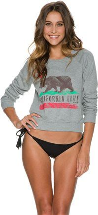 #thewateriswaiting#SWELLivin  BILLABONG REBEL GYPSY PULLOVER CREW Image