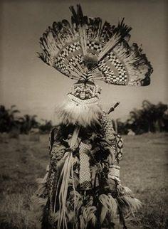 Bakuba Dancer. Belgian Congo. ca. 1959. Photograph by H Philips