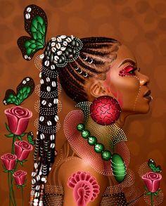 Version Digital drawing on a photo of 👑👑👑 Photographer 📷 . Black Love Art, Black Girl Art, Art Girl, African Girl, African American Art, Natural Hair Art, Black Art Pictures, Art Africain, Black Artwork