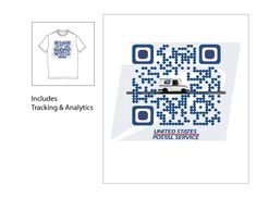 New Tee's for USPS with Branded QR Code! http://qrcodehome.net