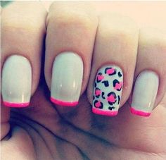 Inspiration on Nail art: phosphorescent pink leopard spots by Veronica Cantarelli. Check out more Nails on Bellashoot. Get Nails, Fancy Nails, Love Nails, How To Do Nails, Pretty Nails, Hair And Nails, Spring Nail Trends, Spring Nails, Nail Polish Designs