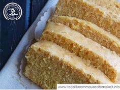 Mealie Bread Recipe - Food like Amma used to make it Eggless Recipes, Coconut Recipes, Bread Recipes, Cake Recipes, Cooking Recipes, Sweet Recipes, Snack Recipes, Snacks, Make Naan Bread