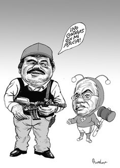 El Chapo y Felipe Calderón