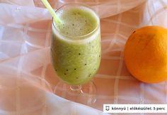 Kivi-narancs ital Kiwi, Healthy Drinks, Cantaloupe, Pudding, Desserts, Food, Orange Smoothie, Cooking, Tailgate Desserts