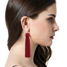 Handmade Ethnic Chinese Fringes Earrings