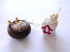 Chinese Food Earrings Chinese Food Rice Food Jewelry by RobeeTwist, $15.00