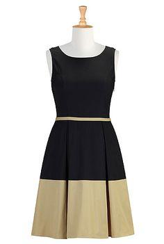 I love a color block dress. Timeless! Shop Women's designer fashion dresses, tops   Size 0-36W & Custom clothes   eShakti #eShakti #eShaktiSpringItOn