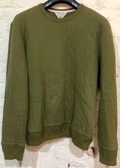 Rag & Bone Handcrafted Sweatshirt Size XL Military Green Quilted Cotton Crewneck #ragbone #Crewneck