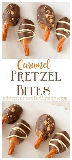 Pretzels dipped in delicious caramel and then chocolate. These yummy treats are perfect to gift to neighbors during the holiday season. Informations About Caramel & Chocolate Covered Pretzel Bites Pin Oreo Dessert, Bon Dessert, Chocolate Covered Pretzels, Chocolate Caramels, Chocolate Sprinkles, Pretzel Caramel Chocolate, Chocolate Candy Recipes, Chocolate Treats, Chocolate Chips