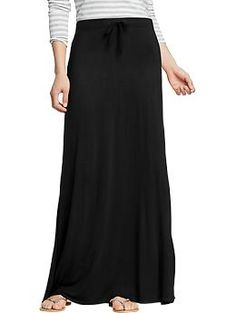 Women's Drawstring Jersey-Maxi Skirts | Old Navy. So easy, breezy for summer nights!