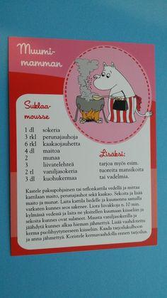 Muumi Reseptikortit Finnish Recipes, Reset Girl, Koti, Hot Chocolate, Food And Drink, Easy Meals, Tasty, Sweets, Sun