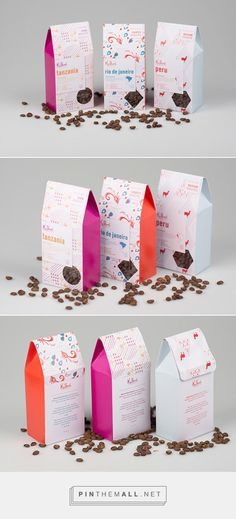Pattern Based Variety Set Coffee Beans by Elise Victoria. Source: Daily Package Design Inspiration. Pin curated by #SFields99 #packaging #design