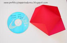 Jak spakować płytę CD.  Cd wrapping envelope diy