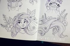Fantasting Drawing Hairstyles For Characters Ideas. Amazing Drawing Hairstyles For Characters Ideas. Doodle Art Drawing, Cool Art Drawings, Art Drawings Sketches, Cartoon Drawings, Cartoon Art, Dibujos Tumblr A Color, Arte Sketchbook, Cute Art Styles, People Art