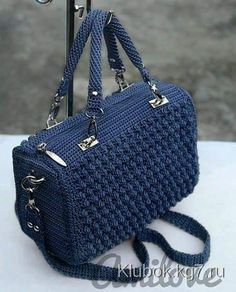 "crochet ""ergahandmade: Crochet Bag + Diagram + Step By Step Tutorials"", ""Red Bobble Stitch Ha Red Bobble Stitch Hand Bag by Indri Safitri"", ""Crochet Free Crochet Bag, Bead Crochet, Diy Crochet, Crochet Baby, Crochet Handbags, Crochet Purses, Bobble Stitch, Blue Handbags, Cheap Bags"