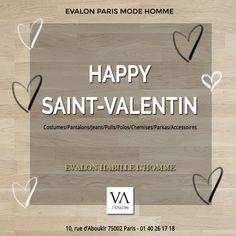 L'équipe d'Evalon Paris vous souhaite une joyeuse Saint-Valentin !  #Soldes2018 -  #ModeHomme  Du 10 janvier au 20 février 2018, jusqu'à -50% chez Evalon #Paris.  #VêtementHomme #Sentier #SaintValentin2018