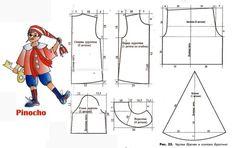 Patrones para un disfraz casero de Pinocho - Nos disfrazamos